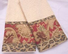 JARDINIERE | Aragon  2 Custom Decorated Hand towels Nice armchair covers