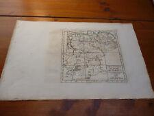 LOT DE 8 cartes anciennes XVIIIe S.(1750) en couleurs du DUCHE DE BRABANT