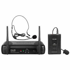 Pulse VHF Wireless Lavalier and Headset Microphone System 174.5mhz