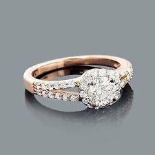 Anillo Joyas Diamantes 14 K Oro Rojo De Brillantes