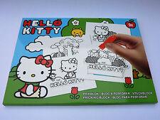 Hello Kitty Set Stechblock A4 Prickelblock Unterlage Stechnadel + 9 Vorlagen
