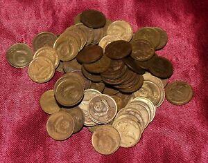 Soviet Russia 1 Kopeck Kopeks Coins Wholesale Lot 100 Pieces