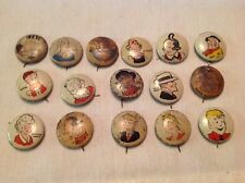 16 Different Kellogg's Vintage PEP Pin Back Buttons