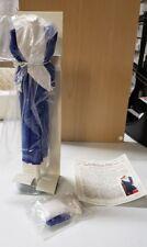 Danbury Mint Princess Diana Royal Wardrobe Collection Blue and White Shirtwaist