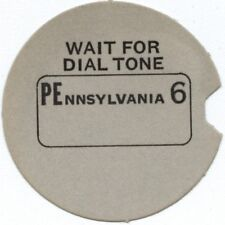 PEnnsylvania 6 Rotary Dial Telephone Number Card NOS