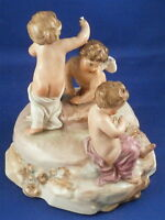 Antique 18thC Three Figure Frankenthal Porcelain Figurine Porzellan Figur 1784