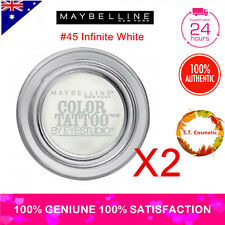 TWO MAYBELLINE Colour Tattoo Eye Shadow 4g #45 Infinite White