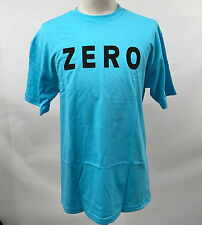 Zero Skateboards Men's T-Shirt Army Pacific Blue Size L NEW