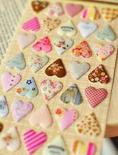 VINTAGE HEART STICKERS Craft Deco Love Hearts Birthday Wedding 3D Sticker Gift