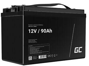 GreenCell® Rechargeable Batterie AGM 12V 90Ah accumulateur VRLA Photovoltaïque