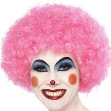 AÑOS 70 AÑOS 80 UNISEX Crazy Payaso FUNKY Peluca Afro Rosa Peluca para disfraz