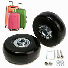 1 Pair Rubber Luggage Suitcase Wheels Replacement Axles Deluxe Repair OD 40mm