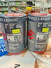 2 X Dymatize  PRE W.O. 400g High Strength Pre Workout 20 Serv Fruit Fusion