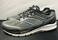 Saucony Echelon 7 Everun Grey Black Silver Running Gym Shoes Mens Size 10.5