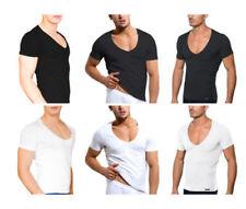 Unifarbene Herren-T-Shirts Basic-S