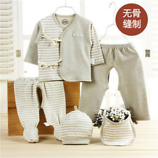 (5pcs/set) Baby Newborn Organic Cotton Clothes Supplies Outfit Suit Sets Unisex