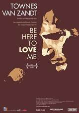 BE HERE TO LOVE ME Movie Promo POSTER Swiss Townes van Zandt Joe Ely Guy Clark
