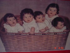 DIONNE QUINTUPLETS 11IN X 17IN ADVERTISING POSTER. REPRODUCTION