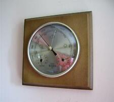 Weather Station Barometer Thermometer Hygrometer Gold Coloured Dial Wall Mount