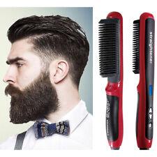 Electric Straightener Straight Hair Brush Quick Iron Ceramic Comb Beauty Styling