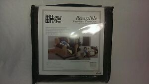 Quilted Home & Dorm Reversible Furniture Protector for Chair 75inx65in Brown/Tan
