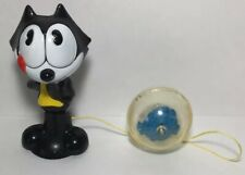 "Vintage 4"" Felix the Cat Productions Inc Ball in Cup Catch Fish Toy"