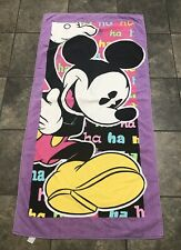 Rare VTG 90's Disney Mickey Mouse Collectible Beach/Bath Towel