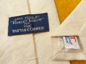 ROBERT TALBOTT ~ MENS SILK DRESS SHIRT SUIT TIE ~ VERY SOFT KNOBBY NUBBY TEXTURE