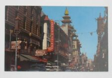 """Vintage Great Ave Chinatown SF CA """"Lamps of China"""" Street Sign Postcard (A34)"""
