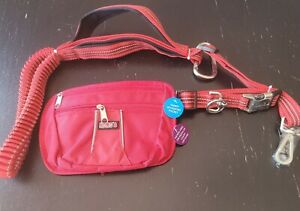 Kong Hands Free Leash With Removable Pouch Brand New Red 6ft
