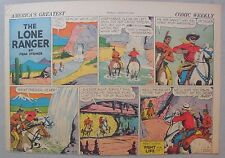Lone Ranger Sunday Page by Fran Striker and Charles Flanders from 8/9/1942
