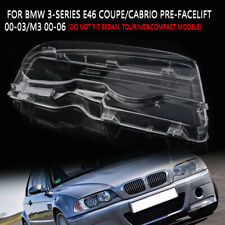 Front Right Headlight Cover Lens Fit BMW E46 2Dr Coupe/Cabrio 00-03 Pre-facelift
