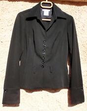 Veste chemise noire VERTIGO made in France non doublée T 36 Etat Neuf !