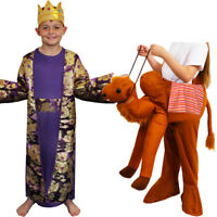 CHILDS KIDS NATIVITY KING RIDE ON CAMEL WISE MAN COSTUME FANCY DRESS MELCHIOR