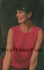 Crochet Pattern Lady's Sleeveless Vest Top/Jumper. 4ply Easy & Quick to Make.