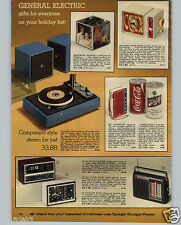 1973 PAPER AD Transistor Radio Schlitz Beer Can Coca Cola Superstar