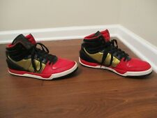Used Worn Size 13 Adidas Court Attitude Shoes Black Red Gold White