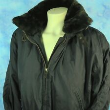 Obermeyer Black Ski Jacket Winter Coat Removable Fur Collar Hood Size 8 Petite