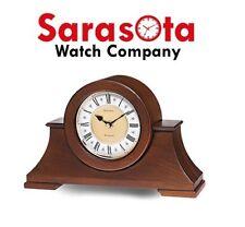 Bulova Cambria B1765 Solid Wood Two-Tone Metal Dial Clock