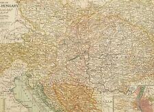 1903 ANTIQUE MAP EMPIRE OF AUSTRIA HUNGARY BOSNIA TYROL CROATIA SLAVONIA BOHEMIA