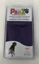 New listing PawZ Protex Dog Boots Water-Proof Paws Disposable Reusable Large Purple open box