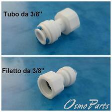 "Raccordo Maschio Femmina 3/8"" Attacco Rapid Depuratori Osmosi Inversa Tubo Acqua"