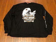 BNWT Harley Davidson Live To Ride Ride To Live Black Long Sleeve T-Shirt sz 3XL