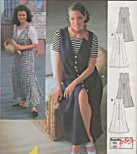 Classic Summer Long Dress Jumper Women Size 24-34 Sewing Pattern Burda #2982