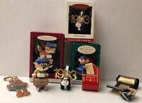 5 Hallmark Keepsake 1993 Ornaments- Mouse, Reindeer, Fox, Skunk Inc 3 Boxes