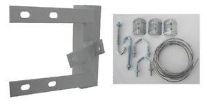 6 Inch Chimney Bracket + Lashing Kit for TV Aerial Pole Mast Corner Brick Stack