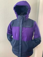 Kids Girl's Columbia Winter Jacket Omni-Tech & Outgrown Size Medium 10/12 Purple