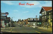 Bend Oregon Postcard ~ Pilot Butte Inn, Doublemint Gum, Tower Theatre, Chevron