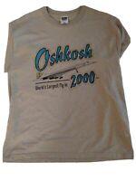 VINTAGE 2000 OSHKOSH WORLDS LARGEST FLY-IN T-SHIRT