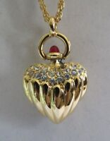 """Joan Rivers Fluted & Pave' Heart Necklace w/26"""" Chain"""